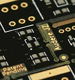 Bare circuit board with solder paste applied